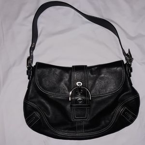 Coach boho black leather handbag
